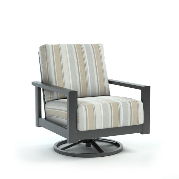 Comer Swivel Patio Chair with Sunbrella Cushion by Rosecliff Heights