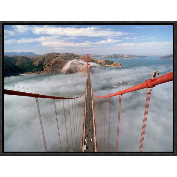 Painter on the Golden Gate Bridge, San Francisco Framed Photographic Print on Canvas by Global Gallery