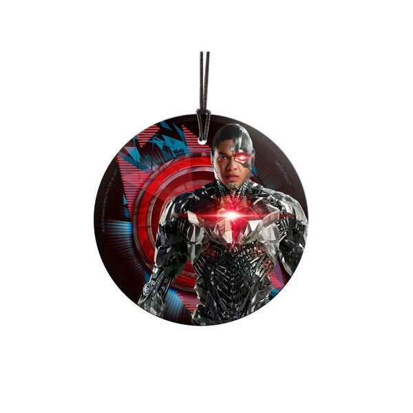 Justice League Movie Cyborg Hanging Glass Shaped Ornament by Trend Setters