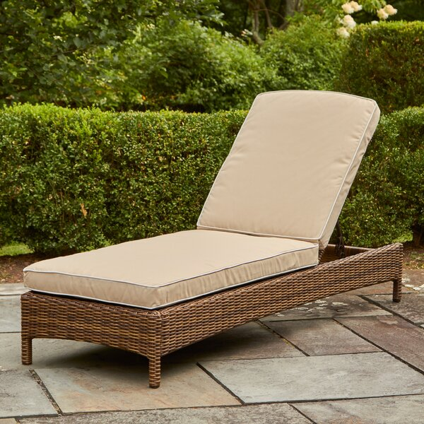 Dardel Reclining Chaise Lounge With Cushions By Beachcrest Home