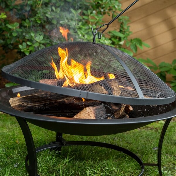 Steel Wood Burning Fire Pit by Sun Joe