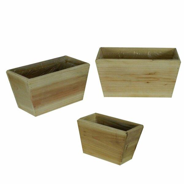 3 Piece Wood Flower Planter Box Set by Entrada
