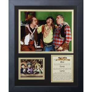 The Three Stooges Framed Memorabilia by Legends Never Die