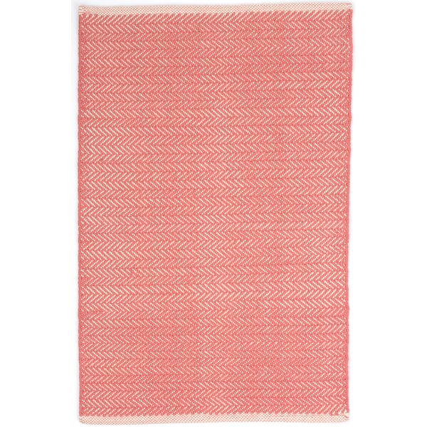 Herringbone Hand Woven Pink Area Rug by Dash and Albert Rugs