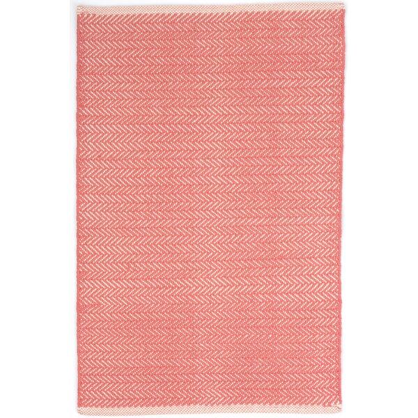 Herringbone Hand Woven Pink Area Rug by Dash and Albert Rugs