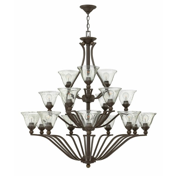 Abeilles 18 - Light Shaded Tiered Chandelier by Charlton Home Charlton Home