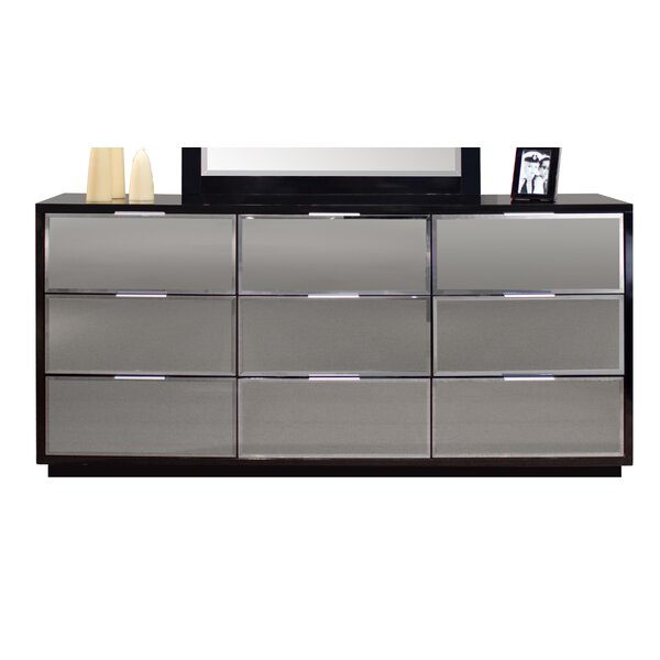 Great price Mera 9 Drawer Standard Dresser/Chest By Sharelle Furnishings 2019 Sale