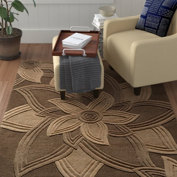 Robin Hand-Tufted Mocha Area Rug by Red Barrel Studio