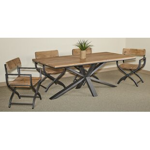 Penrod 5 Piece Solid Wood Dining Set ByUnion Rustic