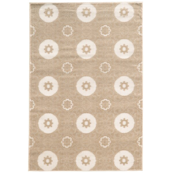 Lucinda Light Beige Area Rug by Threadbind