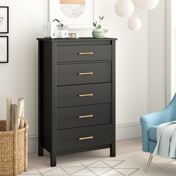 Valeria 5 Drawer Dresser By Trule Teen by Trule Teen #1
