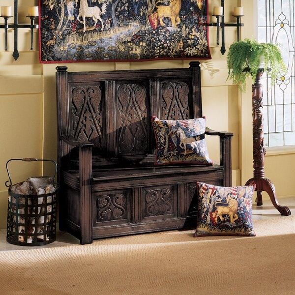 Historic Monk's Wood Storage Bench by Design Toscano