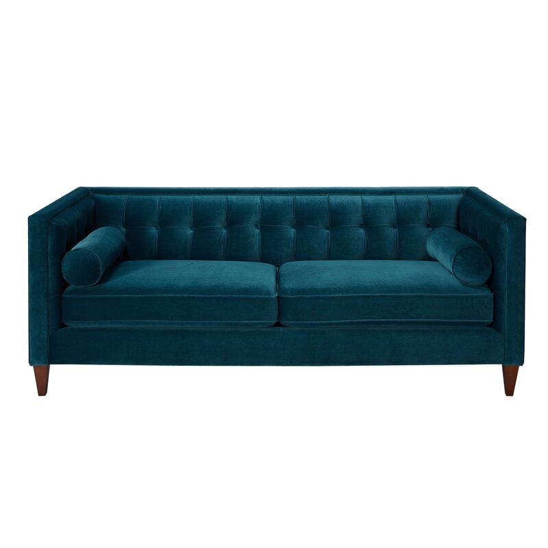 harcourt tufted chesterfield sofa in teal reviews joss main rh jossandmain com teal velvet chesterfield sofa teal leather chesterfield sofa