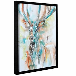 Stag 7 Framed Painting Print by Latitude Run