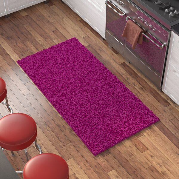 Juana High Pile Pink Solid Area Rug by Zipcode Design