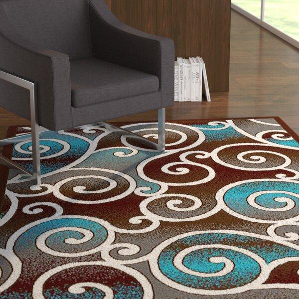Cosper Blue/Brown Area Rug by Ebern Designs