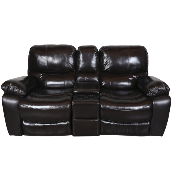 Rashida Leather Reclining Loveseat by Red Barrel Studio