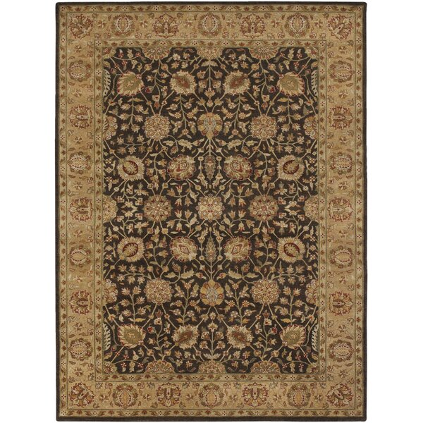Upney Hand-Tufted Wool Tan/Black Area Rug