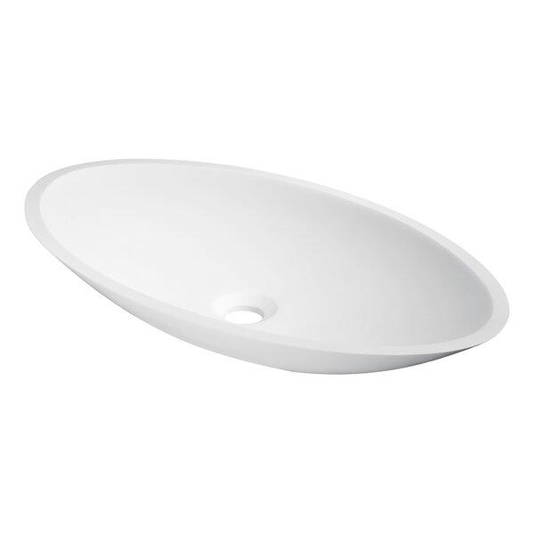Achillies Stone Oval Vessel Bathroom Sink by ANZZI