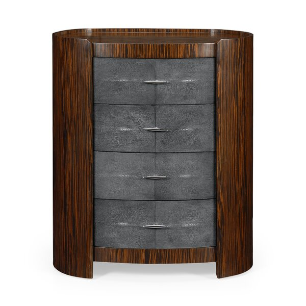 Oval 4 Drawer Bachelors Chest by Jonathan Charles Fine Furniture