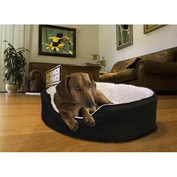 Faulkner Orthopedic Sherpa/Suede Oval Pet Bed by Tucker Murphy Pet