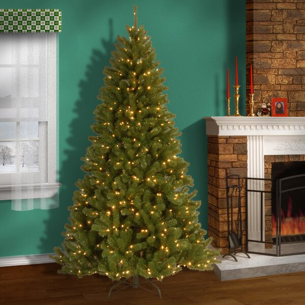, Multi Green Spruce Artificial Christmas Tree with 550 LED Lights with Stand by Darby Home Co