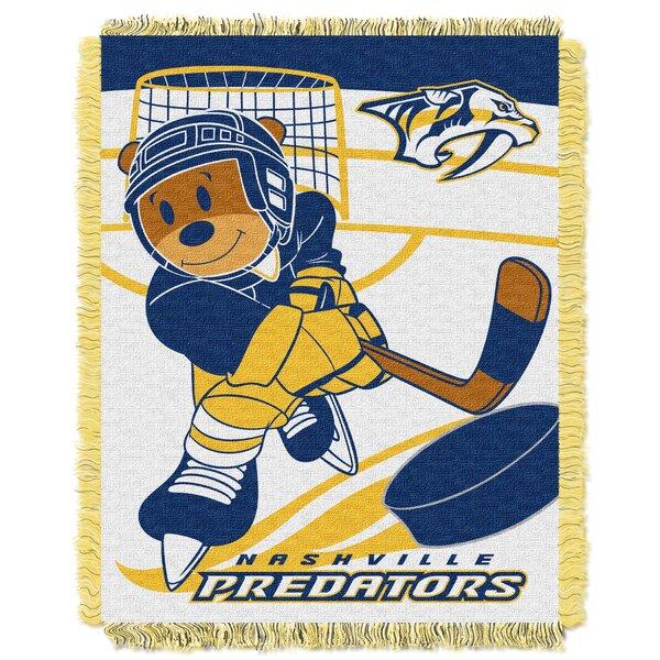 NHL Predators Baby Woven Throw Blanket by Northwest Co.