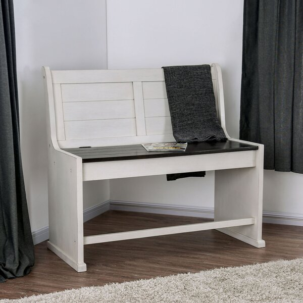 Brewster Wood Storage Bench by Longshore Tides