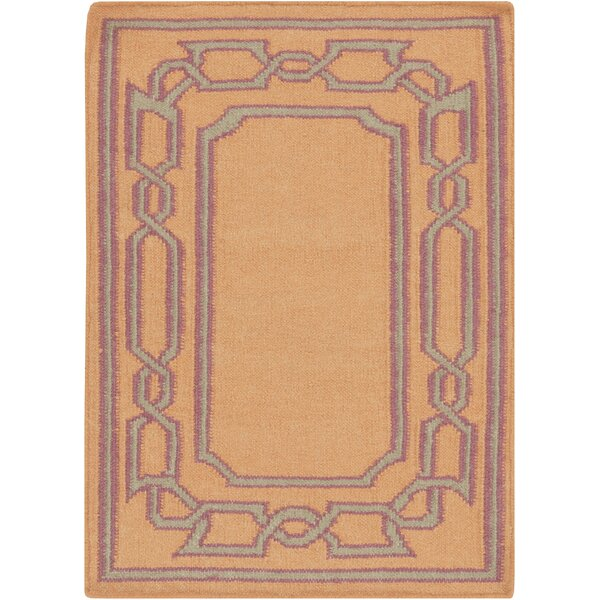 Clancy Tangerine Geometric Area Rug by Charlton Home