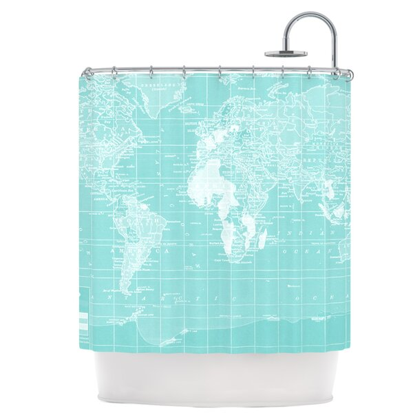 Welcome to My World Shower Curtain by East Urban Home