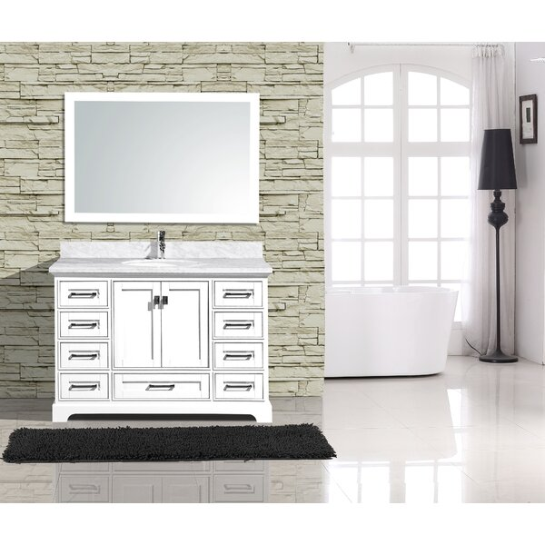 Frieda Traditional 48 Single Bathroom Vanity with Mirror by Gracie Oaks