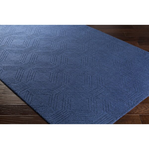Belle Hand-Loomed Blue Area Rug by Wrought Studio