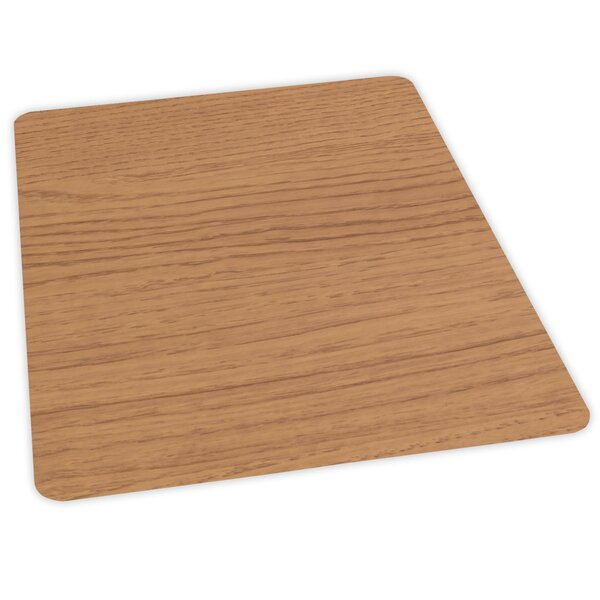 Wood Veneer Style Hard Floor Straight Edge Chair Mat by ES Robbins Corporation