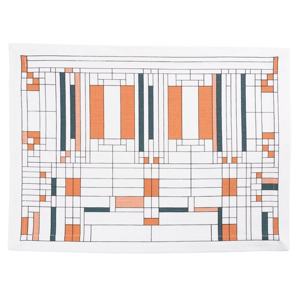 Oak Park Printed 17 Placemat (Set of 4) by Frank Lloyd Wright