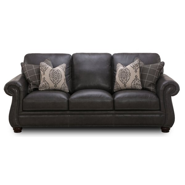 Mariela Leather Sofa by Darby Home Co Darby Home Co