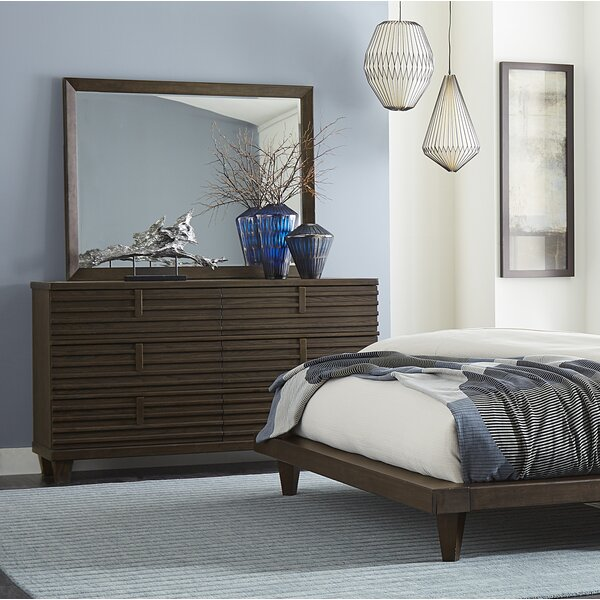 Wolak 6 Drawer Double Dresser with Mirror by Union Rustic