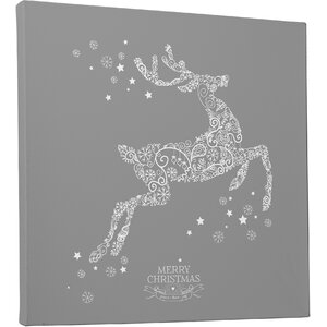 'Holiday Reindeer Stencil' Photographic Print on Wrapped Canvas by The Holiday Aisle