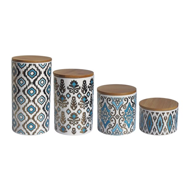 Weber 4 Piece Kitchen Canister Set by American Atelier