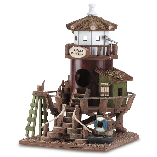 Seaside Station 11 in x 7.5 in x 9 in Birdhouse by Zingz & Thingz