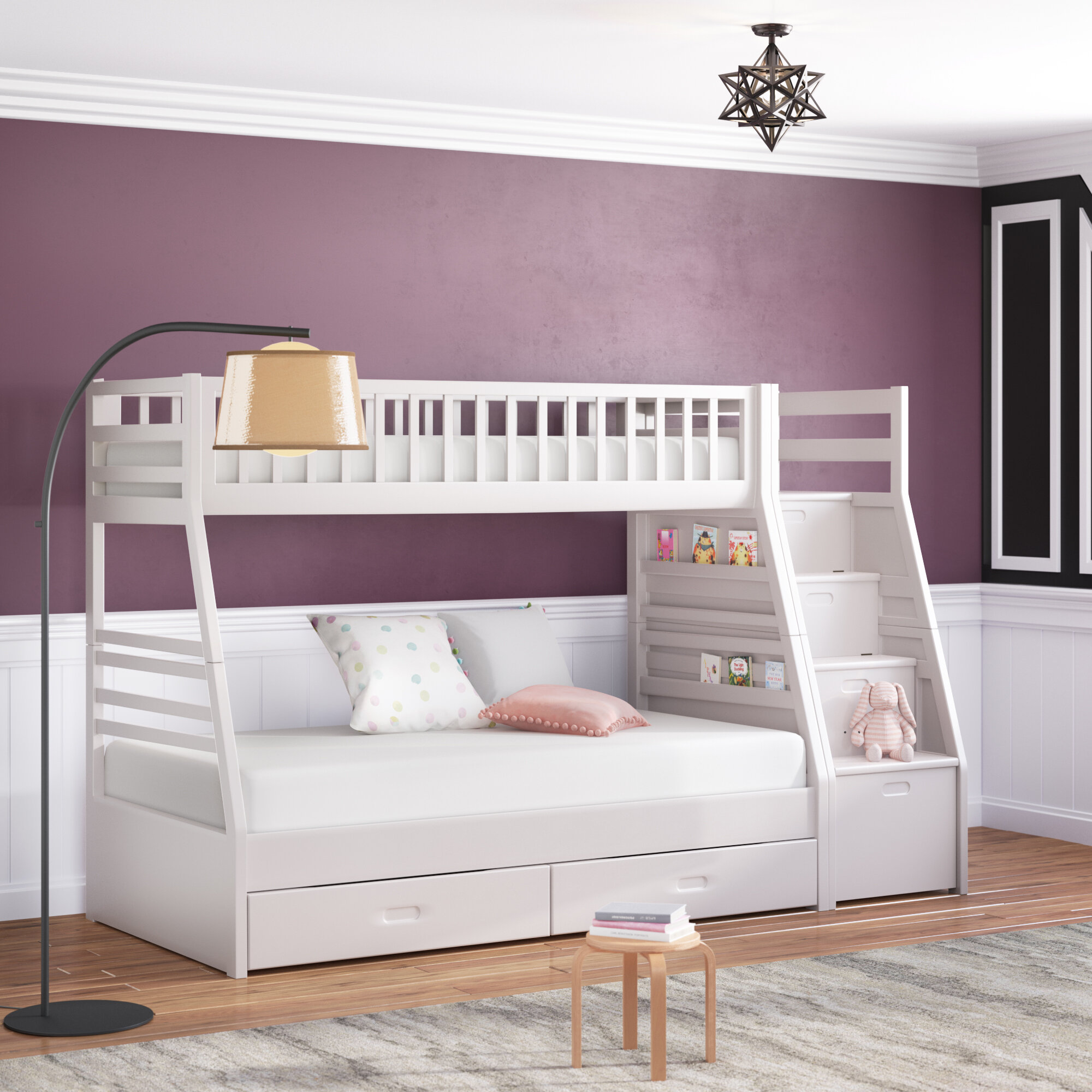huge discount db15a ef6f8 Pierre Twin Over Full Bunk Bed with Drawers