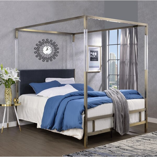 Firkins Queen Upholstered Canopy Bed by Everly Quinn