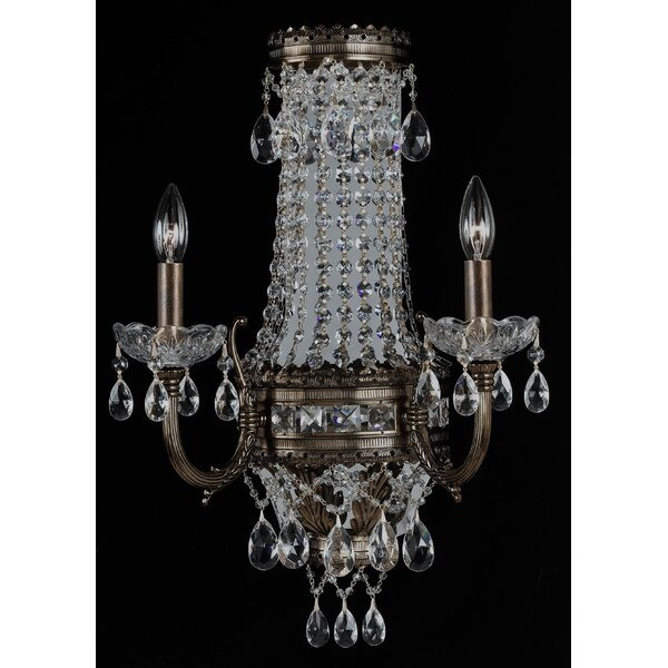 Alpha 2-Light Candle Style Empire Chandelier by Classic Lighting Classic Lighting