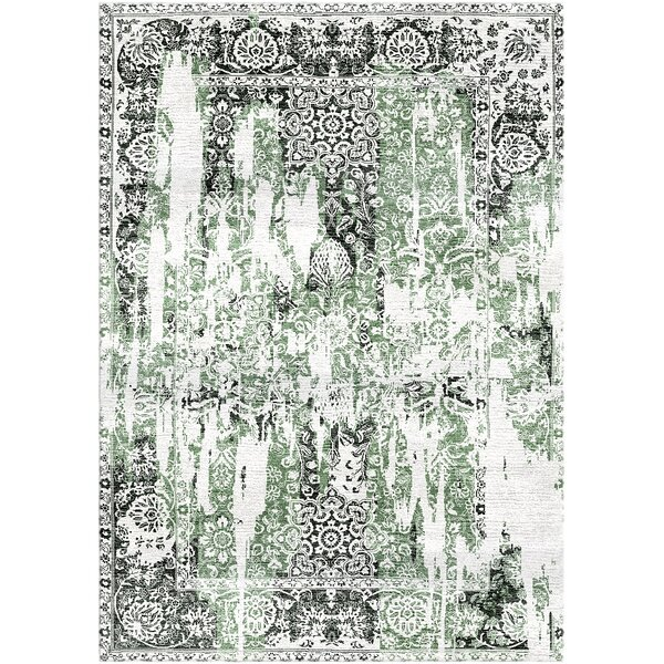 Aliza Handloom Green/Charcoal Area Rug by Bungalow Rose