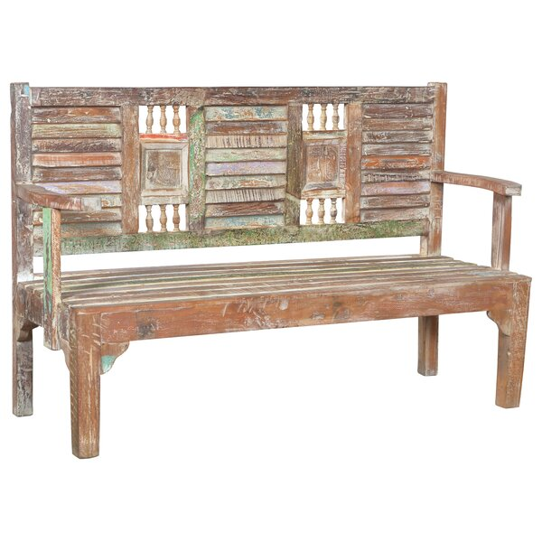 Desirae wooden Garden Bench by Bloomsbury Market