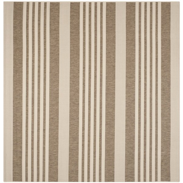 Burwinda Brown & Bone Outdoor Area Rug by Gracie Oaks