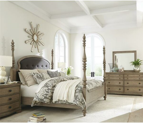 Paredes Four Poster Configurable Bedroom Set by One Allium Way