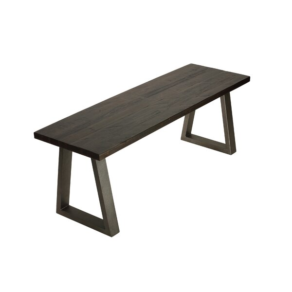Painuly Metal Wood Bench by Union Rustic Union Rustic