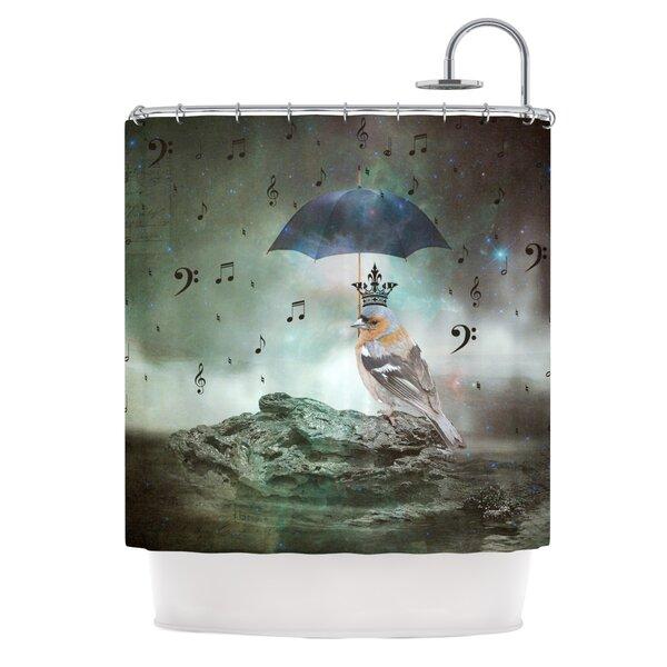Umbrella Bird Shower Curtain by East Urban Home