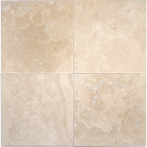 Tuscany Ivory 6 x 6 Travertine Field Tile in  Honed, Filled and Beveled Beige by MSI