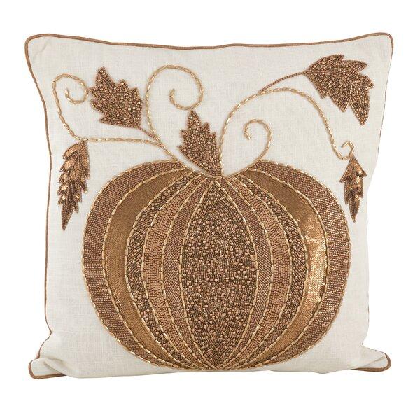 Sarepta Beaded Pumpkin Cotton Throw Pillow by August Grove